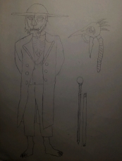 Giacabo Pale-Eye, Druid Shifter with his focus and cane sword.